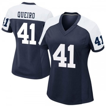 Women's Nike Dallas Cowboys Kyle Queiro Navy Alternate Jersey - Game