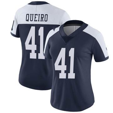 Women's Nike Dallas Cowboys Kyle Queiro Navy Alternate Vapor Untouchable Jersey - Limited