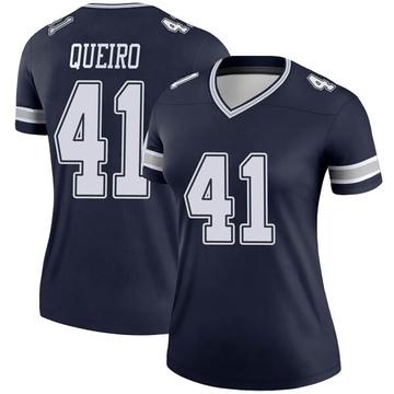 Women's Nike Dallas Cowboys Kyle Queiro Navy Jersey - Legend
