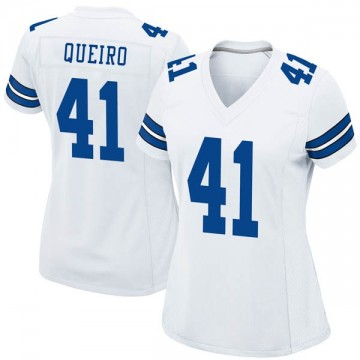 Women's Nike Dallas Cowboys Kyle Queiro White Jersey - Game