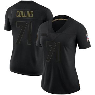 Women's Nike Dallas Cowboys La\'el Collins Black 2020 Salute To Service Jersey - Limited