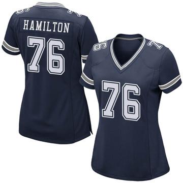 Women's Nike Dallas Cowboys LaDarius Hamilton Navy Team Color Jersey - Game