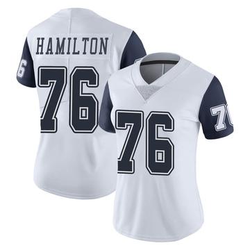 Women's Nike Dallas Cowboys LaDarius Hamilton White Color Rush Vapor Untouchable Jersey - Limited