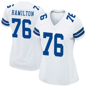 Women's Nike Dallas Cowboys LaDarius Hamilton White Jersey - Game