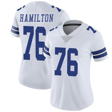 Women's Nike Dallas Cowboys LaDarius Hamilton White Vapor Untouchable Jersey - Limited