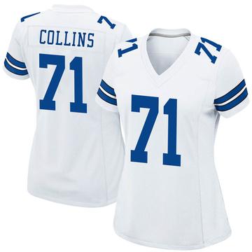 Women's Nike Dallas Cowboys La'el Collins White Jersey - Game