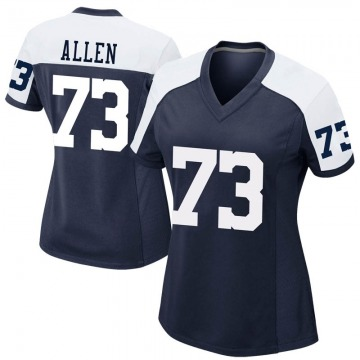 Women's Nike Dallas Cowboys Larry Allen Navy Alternate Jersey - Game