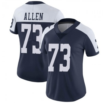 Women's Nike Dallas Cowboys Larry Allen Navy Alternate Vapor Untouchable Jersey - Limited