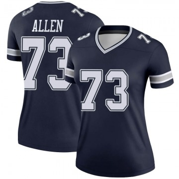Women's Nike Dallas Cowboys Larry Allen Navy Jersey - Legend