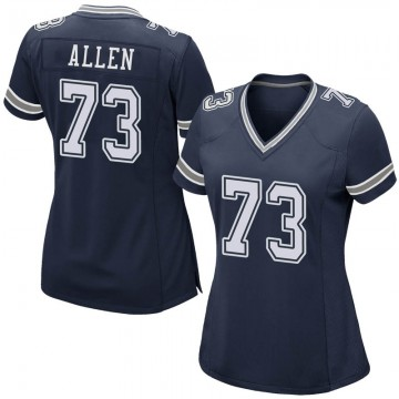 Women's Nike Dallas Cowboys Larry Allen Navy Team Color Jersey - Game