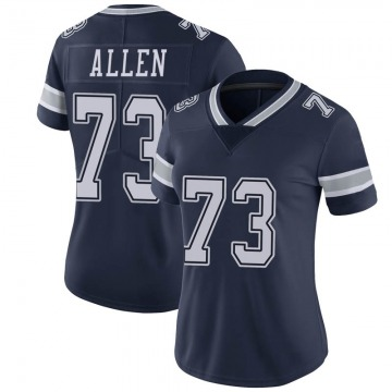 Women's Nike Dallas Cowboys Larry Allen Navy Team Color Vapor Untouchable Jersey - Limited