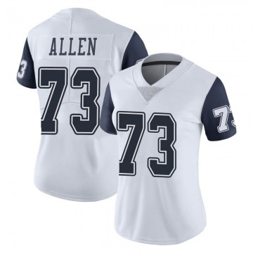 Women's Nike Dallas Cowboys Larry Allen White Color Rush Vapor Untouchable Jersey - Limited
