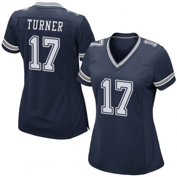 Women's Nike Dallas Cowboys Malik Turner Navy Team Color Jersey - Game