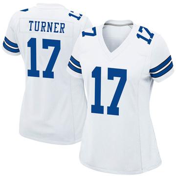 Women's Nike Dallas Cowboys Malik Turner White Jersey - Game