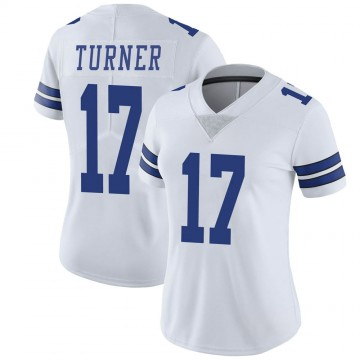 Women's Nike Dallas Cowboys Malik Turner White Vapor Untouchable Jersey - Limited