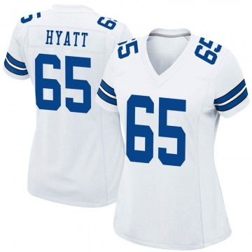 Women's Nike Dallas Cowboys Mitch Hyatt White Jersey - Game
