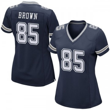 Women's Nike Dallas Cowboys Noah Brown Brown Navy Team Color Jersey - Game