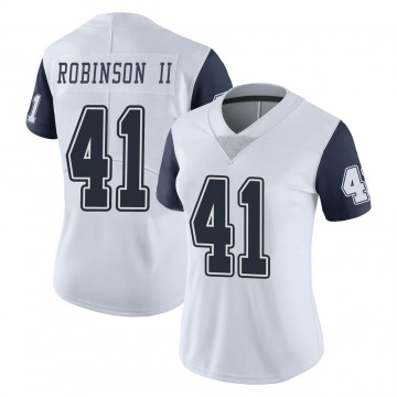 Women's Nike Dallas Cowboys Reggie Robinson II White Color Rush Vapor Untouchable Jersey - Limited