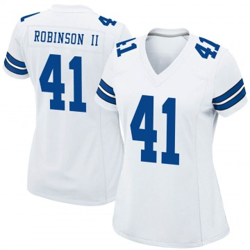 Women's Nike Dallas Cowboys Reggie Robinson II White Jersey - Game