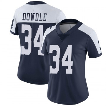 Women's Nike Dallas Cowboys Rico Dowdle Navy Alternate Vapor Untouchable Jersey - Limited
