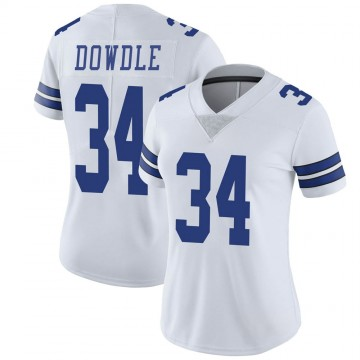 Women's Nike Dallas Cowboys Rico Dowdle White Vapor Untouchable Jersey - Limited