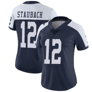 Women's Nike Dallas Cowboys Roger Staubach Navy Alternate Vapor Untouchable Jersey - Limited