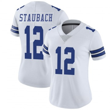 Women's Nike Dallas Cowboys Roger Staubach White Vapor Untouchable Jersey - Limited