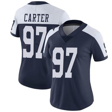 Women's Nike Dallas Cowboys Ron'Dell Carter Navy Alternate Vapor Untouchable Jersey - Limited