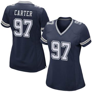 Women's Nike Dallas Cowboys Ron'Dell Carter Navy Team Color Jersey - Game