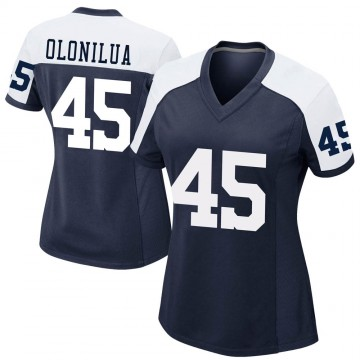 Women's Nike Dallas Cowboys Sewo Olonilua Navy Alternate Jersey - Game