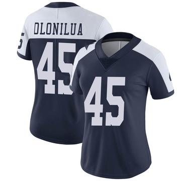Women's Nike Dallas Cowboys Sewo Olonilua Navy Alternate Vapor Untouchable Jersey - Limited