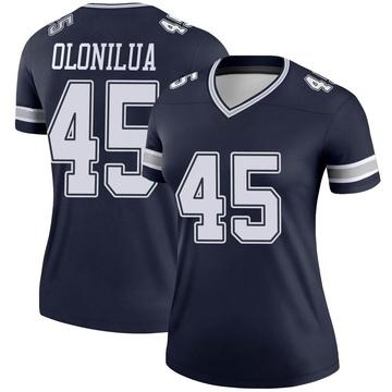 Women's Nike Dallas Cowboys Sewo Olonilua Navy Jersey - Legend