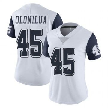 Women's Nike Dallas Cowboys Sewo Olonilua White Color Rush Vapor Untouchable Jersey - Limited