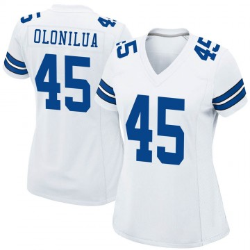 Women's Nike Dallas Cowboys Sewo Olonilua White Jersey - Game