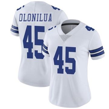 Women's Nike Dallas Cowboys Sewo Olonilua White Vapor Untouchable Jersey - Limited