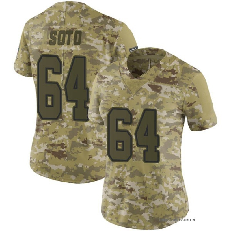 on sale 9aaef 80f5e Women's Nike Dallas Cowboys Shakir Soto Camo 2018 Salute to Service Jersey  - Limited
