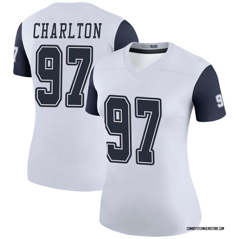 the best attitude 805f4 de76c Women's Nike Dallas Cowboys Taco Charlton White Color Rush Jersey - Legend