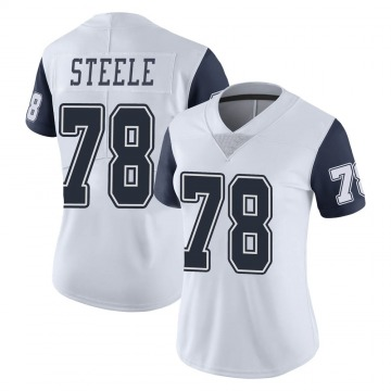Women's Nike Dallas Cowboys Terence Steele White Color Rush Vapor Untouchable Jersey - Limited