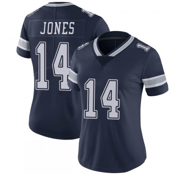 Women's Nike Dallas Cowboys Tevin Jones Navy 100th Vapor Jersey - Limited