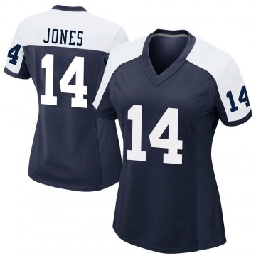 Women's Nike Dallas Cowboys Tevin Jones Navy Alternate Jersey - Game