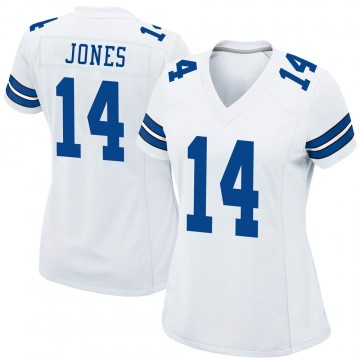 Women's Nike Dallas Cowboys Tevin Jones White Jersey - Game
