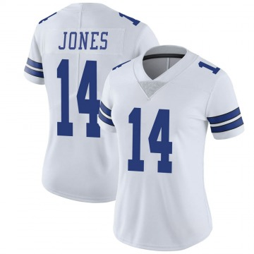 Women's Nike Dallas Cowboys Tevin Jones White Vapor Untouchable Jersey - Limited