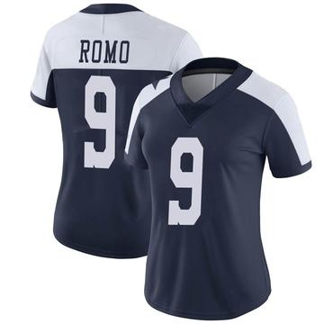Women's Nike Dallas Cowboys Tony Romo Navy Alternate Vapor Untouchable Jersey - Limited