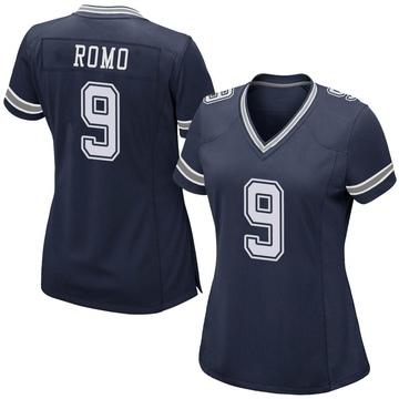 Women's Nike Dallas Cowboys Tony Romo Navy Team Color Jersey - Game