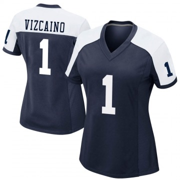 Women's Nike Dallas Cowboys Tristan Vizcaino Navy Alternate Jersey - Game