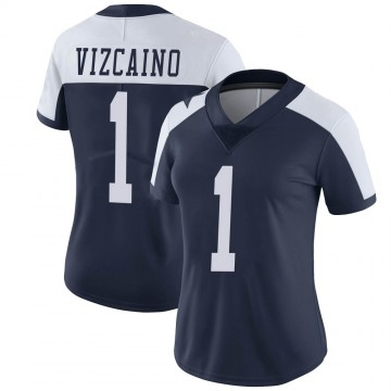 Women's Nike Dallas Cowboys Tristan Vizcaino Navy Alternate Vapor Untouchable Jersey - Limited