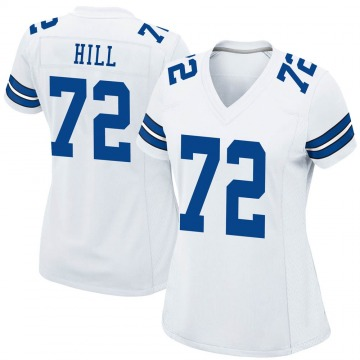 Women's Nike Dallas Cowboys Trysten Hill White Jersey - Game