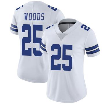 Women's Nike Dallas Cowboys Xavier Woods White Vapor Untouchable Jersey - Limited