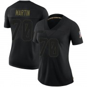Women's Nike Dallas Cowboys Zack Martin Black 2020 Salute To Service Jersey - Limited