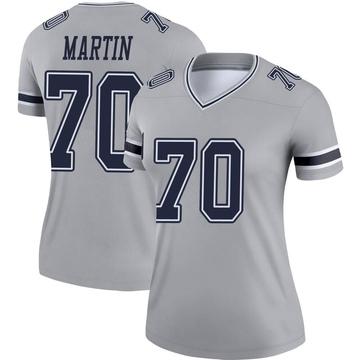 Women's Nike Dallas Cowboys Zack Martin Gray Inverted Jersey - Legend